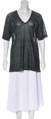 Isabel Marant Metallic Short Sleeve Top