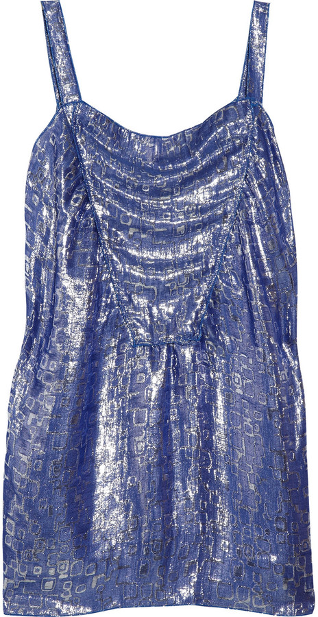 M Missoni Metallic jacquard top