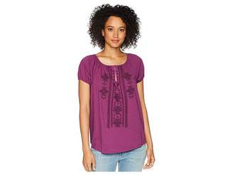 Chaps Embroidered Cotton Top Women's Blouse