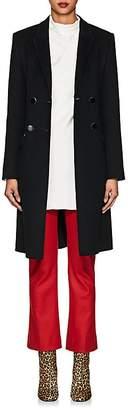 Giorgio Armani Women's Double-Faced Wool-Silk Double-Breasted Coat