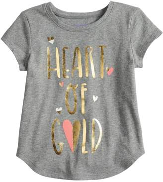 Baby Girl Jumping Beans Graphic Shirttail-Hem Tee