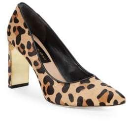 Donna Karan Criss Calf Hair Leopard Print Pumps