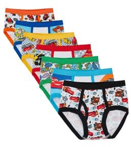 Handcraft Disney Toddler Boy Pixar Favorite Characters Underwear, 7-Pack
