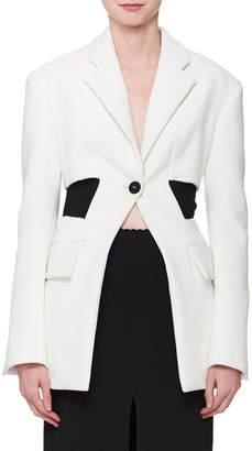 Proenza Schouler Single-Button Long-Sleeve Blazer Jacket