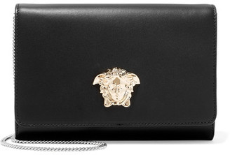 Versace - Palazzo Leather Shoulder Bag - Black $1,150 thestylecure.com