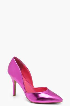 boohoo Cut Out Detail Court Shoes