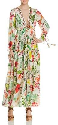 Rococo Sand Floral Silk Maxi Dress