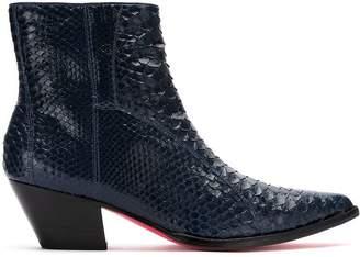 Zeferino python skin boots