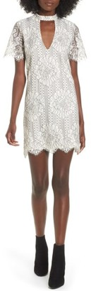 Women's Socialite Choker Lace Shift Dress $59 thestylecure.com