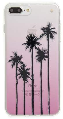 Kate Spade transparent palm tree ombre iPhone 7/8 & 7/8 Plus case