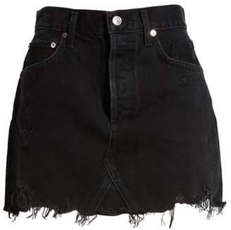 A Gold E AGOLDE Quinn Denim Miniskirt