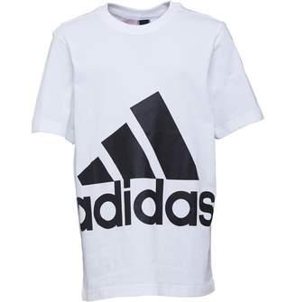 adidas Boys Essentials Big Logo T-Shirt White/Black