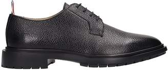 Thom Browne Blucher Winterized Black Leather Laces-up