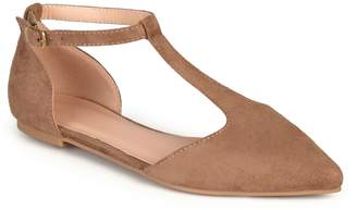 Journee Collection Vera Women's T-Strap Flats