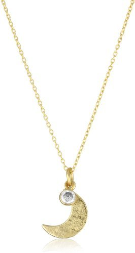 Lisa Stewart Mini Moon with Cubic Zirconia Necklace