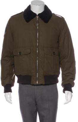 Burberry Shearling-Trimmed Bomber Jacket