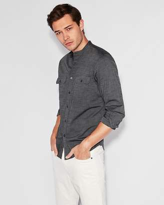 Express Classic Slub Band Collar Shirt