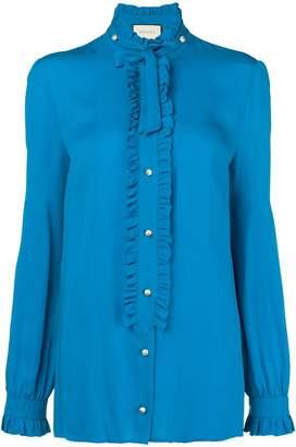 Gucci ruffle trim blouse
