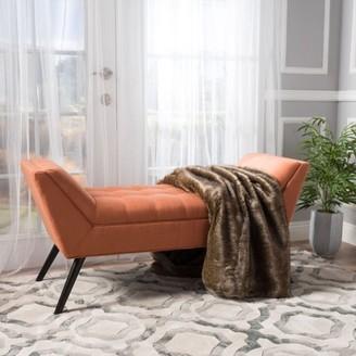 Noble House Petra Orange Fabric Bench