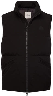 Moncler Logan Quilted Down Vest with Hood