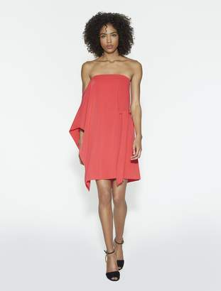 Halston Flowy One Sleeve Dress With Sash