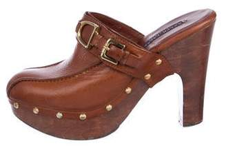 Ralph Lauren Leather Platform Mules
