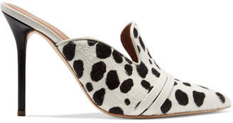 Malone Souliers by Roy Luwolt - Hayley Leather-trimmed Animal-print Calf Hair Mules - Leopard print