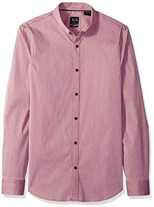 Armani Exchange A|X Men's Long Sleeve Stripe Shirt