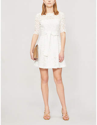 225286317e7b Claudie Pierlot Boat-neck lace mini dress