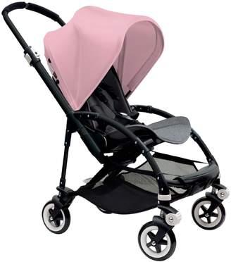 Bugaboo Bee 3 Black Frame Stroller With Grey Melange Seat (Soft Pink) by