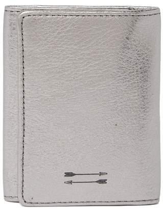 Uri Minkoff Quint Metallic Leather Key Wallet
