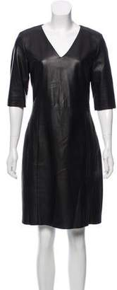 Drome Leather Knee-Length Dress