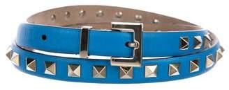 Valentino Leather Rockstud Belt