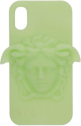 Versace Green 3D Medusa iPhone X Case