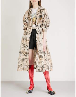Prada Comic-print nylon trench coat