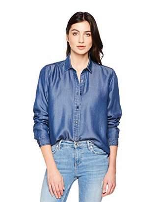 3299fcb120a PD Peppered Denim Women s Casual Long Sleeve Tencel Denim Shirt