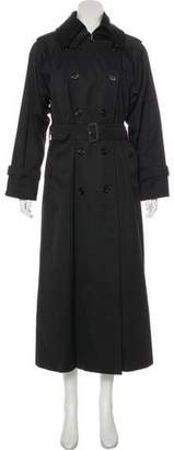 Burberry Vintage Belt-Accented Trench Coat