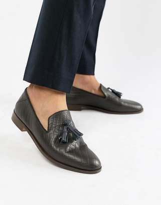 d568da01b4c Osprey House Of Hounds tassel loafers in brown croc