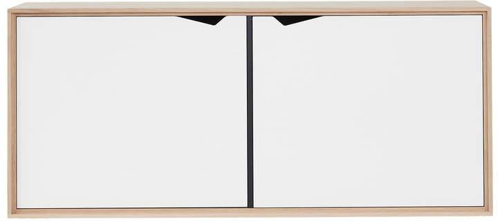 Andersen Furniture - S2 Hängemodul mit 2 Türen, Eiche geseift / Laminat Weiß