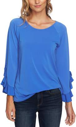 CeCe Ruffle Bell Sleeve Top
