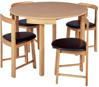 At Argos Hygena Alena Circular Solid Wood Table 4 Chairs