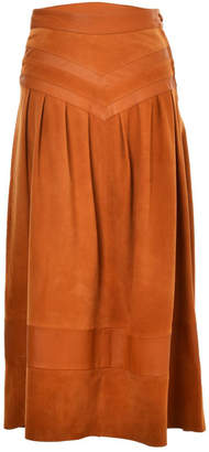 Lilly Sarti Maria Helena Leather Skirt