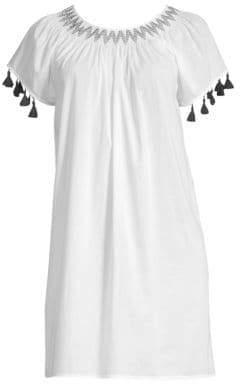 Vineyard Vines Smocked Tassel T-Shirt Dress