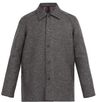 Harris Wharf London Raglan Sleeve Wool Coat - Mens - Grey