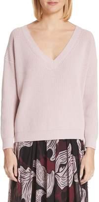 Fuzzi V-Neck Wool Sweater