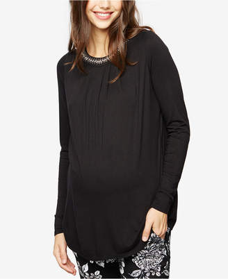 A Pea In The Pod Maternity Embellished Top $78 thestylecure.com