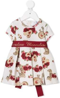 MonnaLisa printed belted dress