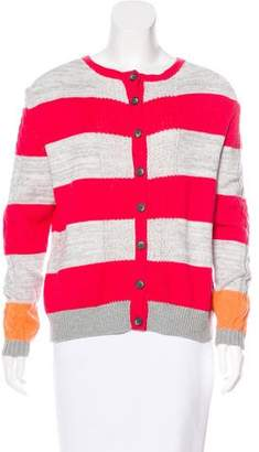 Thakoon Striped Button-Up Cardigan