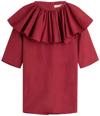Nina Ricci Cotton Blouse with Ruffles