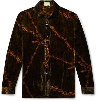 Aries Printed Velvet Shirt